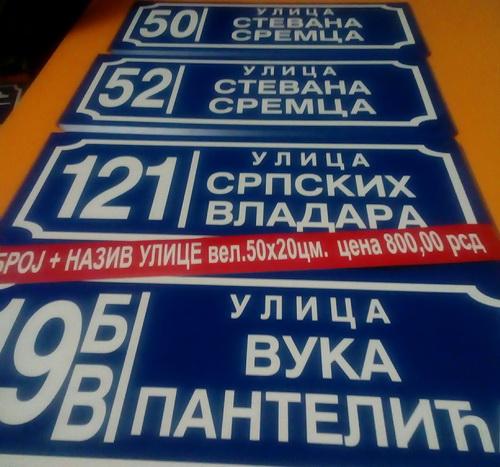 Mi pravimo table za adresni registar/ standard